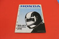 OEM Honda 1985-1987 CMX250 CMX250C Rebel Factory Service Manual 61KR302