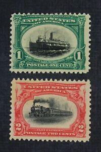 CKStamps: US Stamps Collection Scott#294 1c Mint NH OG #295 2c Mint H OG