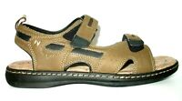 Nunn Bush Comfort Gel 3.0 Brown Strapped Slip On Sandals Mens 11 M EUC