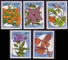 Flowers Congolese Stamps