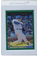 2018 DONRUSS  #225 ANTHONY RIZZO  CHICAGO CUBS  RETRO 1984  GREEN FOIL