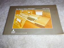 ATARI COMPUTER THE HOME FILING MANAGER USER'S GUIDE BOOK ONLY RARE