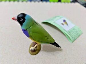 Furuta Kaiyodo Choco egg animal figure - Gouldian finch black bird figurine