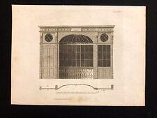 Antigüedad 1800 impresión constructores revista de diseño de arquitectura para un frente de tienda LXIX