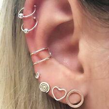 Hammer Ear Studs Earrings Set Jewelry Preci Ep_ 7 Pcs Bohemian Women Heart Round