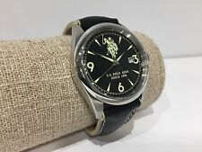 Nuovo - Orologio Watch Montre U.S. POLO ASSN. Sport Black Steel Leather 39 mm