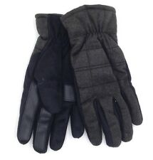 $176 ISOTONER MEN GRAY SOFTSHELL DRESS SMART TOUCH THERMAL WINTER GLOVES SIZE XL