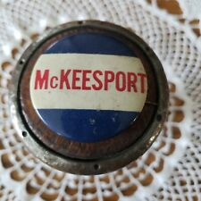 """Vintage 4th Of July McKeesport Pennsylvania Button Red White Blue  1.75""""w"""