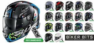 SHARK SKWAL 2 Flashing Integrated LED Flash Lights 2021 Motorbike Pinlock Helmet
