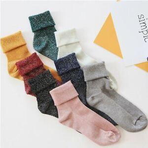 Ladies Ankle Socks Plain Colours Glitter Finish Design - 12 Colours - LS0091