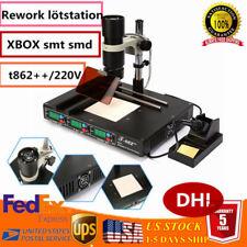 Updated T862++ BGA Rework Station IRDA INFRARED WELDER Soldering Machine Xbox EU