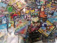 Pokemon Card Lot 100 TCG Guaranteed 1 EX/GX/Mega/V or Full Art trainer + holos