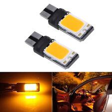 2x T10 194 W5W LED Bulbs COB Car Side Wedge Marker Light  Bright Amber Yellow