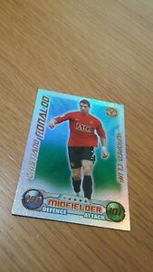 Match Attax Attack 08/09 2008/09  Cristiano Ronaldo 101 100 Hundred Club Card