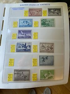 UNITED STATES OF AMERICA FEDERAL HUNTING PERMIT STAMPS