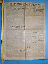 10/01/1920 IL GIORNALE Primo Colloquio a Parigi tra Nitti Clemenceau George 252