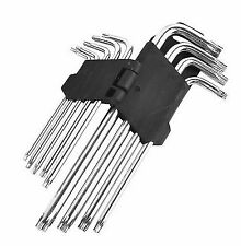 9 Piece Offset Extra Long Reach Torx Tampered Key Set Hex Star Trx Drive T10-T50