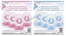 Baby Shower Party 4 Mini Elephant Honeycomb Centrepiece Table Decorations Boy/Gi