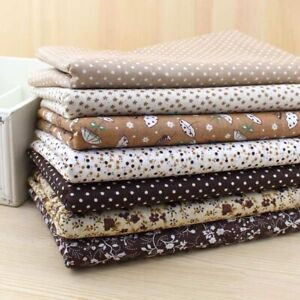 7 Fabric Bundles For Sewing Brown Theme