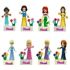 Princesas Disney lego  minifigura lote de 8 + 6 parches termoadhesivos