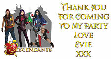 Personalised Disney Descendants Birthday Party Thank You Stickers - Pack Of 24