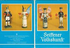 Postkartenserie Seiffener Volkskunst DDR Ostalgie Erzgebirge Holz-Schnitzereien