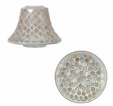 Aromatize Glittered Teardrop Mosaic Candle Plate & Shade Gift Set