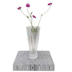 "Rosenthal Blossom Pyramid Cut Glass Lead Crystal Vase 10"" Germany"