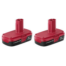 Craftsman C3 19.2 Volt Compact Lithium-Ion Battery 2 Pack REAL CRAFTSMAN