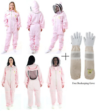 Beekeepers Bee Suit Pink Fancy Veil Bee Keeping Suit With free Beekeeping Glove
