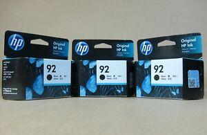 [1438*] 3x (THREE) HP 92 BLACK INKS ( RRP>$114 )