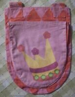 Flexa Betttasche 2 rosa Krone Aufbewahrung Bett Schlafzimmer Kinder Ordnung Mama