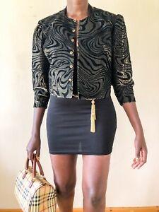 Your sixth sense vintage Jacket ladies evening party 90's size 10 black sparkly