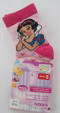 2 x Disney Princess * Socken * 19-22 * Rosa mit Motiv * Neu (T8)