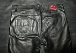 LEATHERMASTERS LEATHER UNIFORM BREECHES TROUSERS JEANS BLUF ROB MR B GAY INTERST
