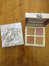 NIB URBAN DECAY Afterglow Highlighter Blush Palette Makeup Quad NEW & AUTHENTIC