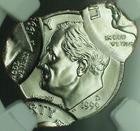 1999-D Mint Error *QUADRUPLE STRUCK* Roosevelt Dime 10c Coin NGC MS-66
