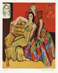 "Henri Matisse ""la robe jaune et la robe ecossaise"" from Verve 1945"