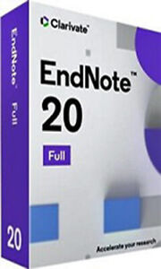 NEW Endnote 20 Commercial Reference Manager for WIN/MAC
