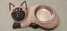 Cat Food Bowl & Holder - Cat theme - New, Yet Ex Display
