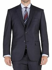 Racing Green Navy Chalk Stripe Suit 38R TD079 BB 12