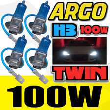 4X H3 100W CAR FOG LIGHT XENON HALOGEN HID SUPER WHITE UNIVERSAL HEADLIGHT BULBS