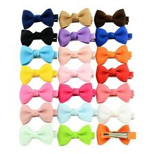 20pc Kids Girl Small Ribbon Hair Clip Baby Bow Barrette Hairpin Accessories Gift