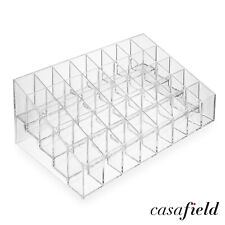 40 Clear Acrylic Lipstick Holder Stand Display Cosmetic Makeup Organizer Case