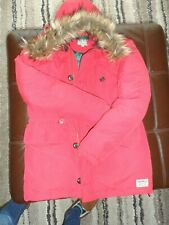MENS JACK WILLS DOWN FILLED RED HOODED WINTER PARKA -  Size SMALL