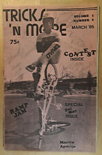TRICKS 'N MORE Mar. '85 BMX FS Zine SIGNED by Curb Dogs DAVE VANDERSPEK & Others