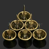 100 x Bronze/Silver Cone Purse Feet Rock Nailheads Brads Studs Spike 12mm 15mm