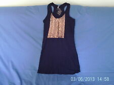 Womens Size 8 - Black with Bronze Sequins Sleeveless Tunic Top