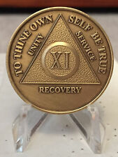 Bronze AA Medallions 1 2 3 4 5 6 7 8 9 10 Years Lot of 10 Alcoholics Anonymous