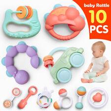 GizmoVine 10pcs Rassel Baby , Greifling Baby Spielzeug, Kleinkinder Neugeborene